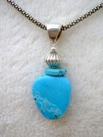 Turquoise hanger - Echt zilver, echte edelstenen
