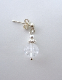 Malachiet oorbellen, echt zilver - edelsteen