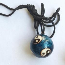 Yin Yang harmonie gong hanger - Blauw
