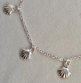 """Zilveren armbandje """"Magische schelp Santiago"""", 16 tot 19 cm"""