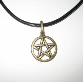 Amulet Pentagram - kleur brons