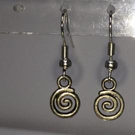Spiraal oorbellen voor balans - verzilverd, nikkelvrij