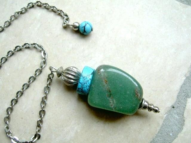 Pendel - Aventurijn, Turquoise