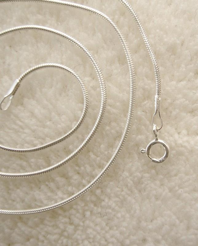 Ketting, snake, 40 of 45cm, Sterling zilver