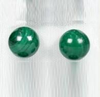 Malachiet (echte) oorknopjes, echt zilver en 6 mm edelsteen