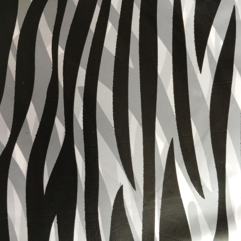 Cadeauverpakking zwart/wit zebra 13 x 13 cm