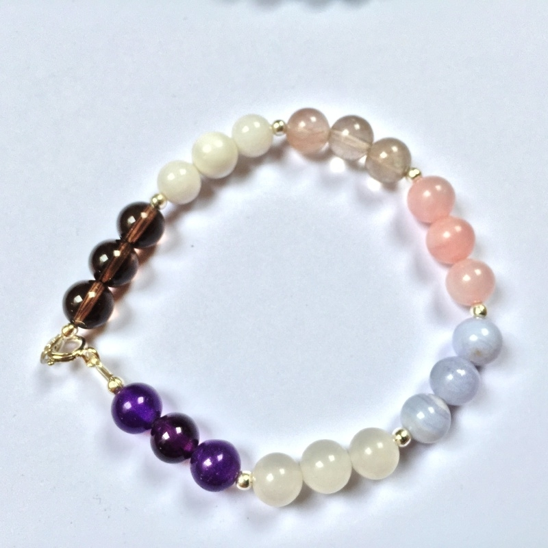 Chakra-armband - Acceptatie - Echt zilver, echte edelstenen