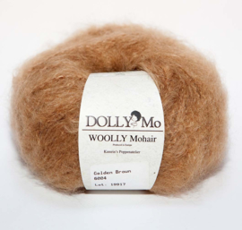 "DollyMo ""Woolly"" Mohair 6004 Golden Brown"