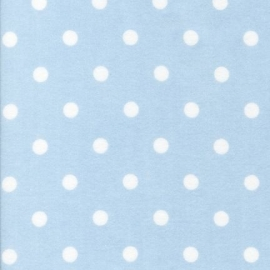 Flannel Polka Dot Light Blue