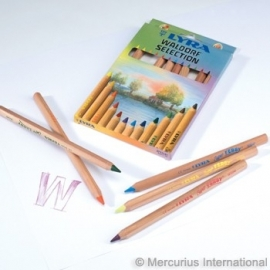 Lyra Super Ferby Color Pencils (unvarnished) Waldorf Assortiment 12 Colors