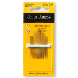 John James Embroidery 3/9 Needles JJ13539. NEW!