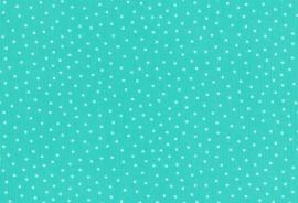 Westfalen Babycord Gestipt Turquoise Wit