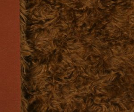 "Mohair Fur Steiff Schulte no. 4113 ""Brown"" New!"