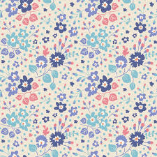 Tilda Plum Garden Wildflower Confetti Blue New!