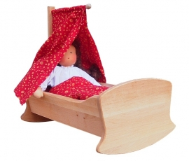 Wooden Doll Bed / Crib