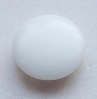 Button White Nut 12 mm