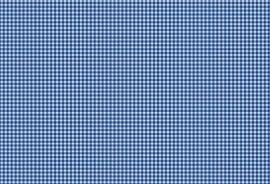 Westfalen Cotton Pompadour Geruit Donkerblauw Wit