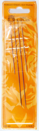 "Doll needles 4 in a pack ""Golden Kaplan"" (2 sizes with golden eye) New!"