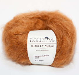 "DollyMo ""Woolly"" Mohair 6005  Brown Auburn"