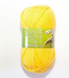 King Cole Merino Blend DK Yellow 50 gram