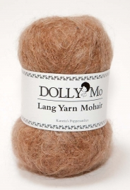 "DollyMo Lang Yarn Mohair ""Golden Brown""  no. 3004"