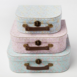 Grace Floral Suitcase (set of 3)