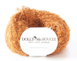 "DollyMo Mini mohair bouclé. ""Brown Auburn""  nr. 8004"