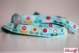 Woven Cotton Ribbon Trim Starflower Summer