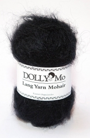 "DollyMo Lang Yarn Mohair ""Black"" no. 3010"