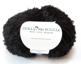 "DollyMo Mini Mohair Bouclé  ""Black"" no. 8007"