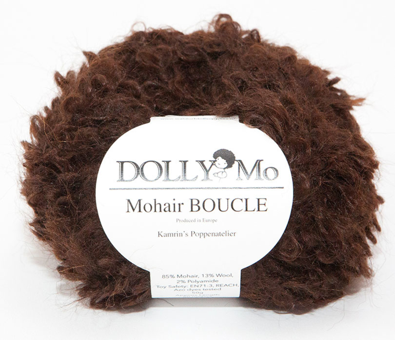 "DollyMo Mohair Bouclé ""Dark Brown"" nr. 7010"