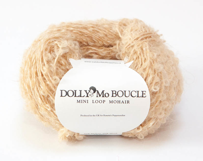 "DollyMo Mini mohair bouclé ""Natural Blonde"" nr. 8001"