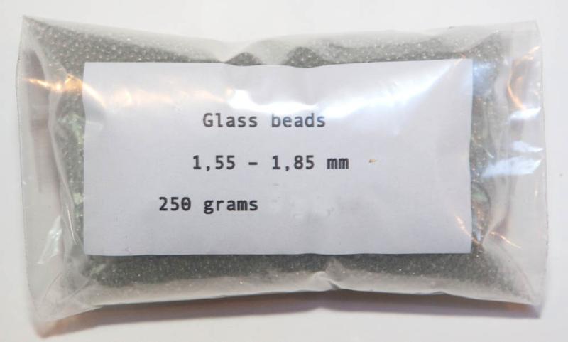 Glaskugeln  extra fein 1,55 - 1,85 mm: