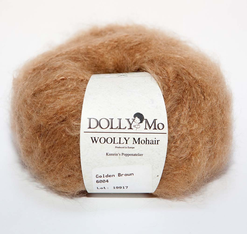 """DollyMo """"Woolly"""" Mohair 6004 Golden Brown"""