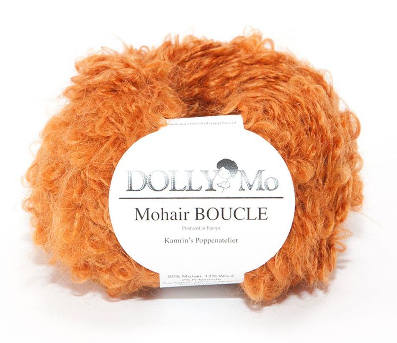"""DollyMo Mohair Bouclé """"Rust"""" New!"""