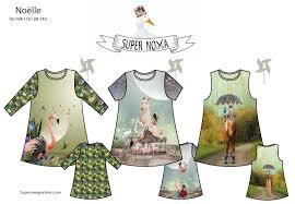 Super Nova Noëlle Patroon Kinderjurken in 3 stijlen Nieuw!