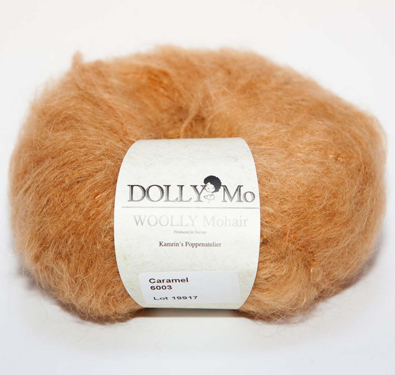 """DollyMo """"Woolly""""  Mohair 6003  Caramel"""