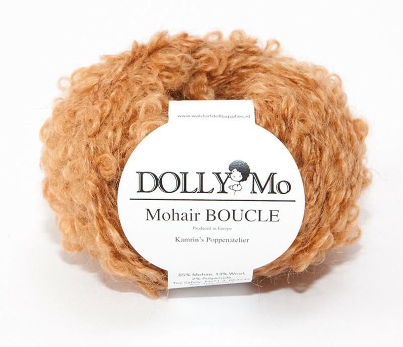 """DollyMo Mohair Bouclé """"Caramel"""" nr. 7003"""