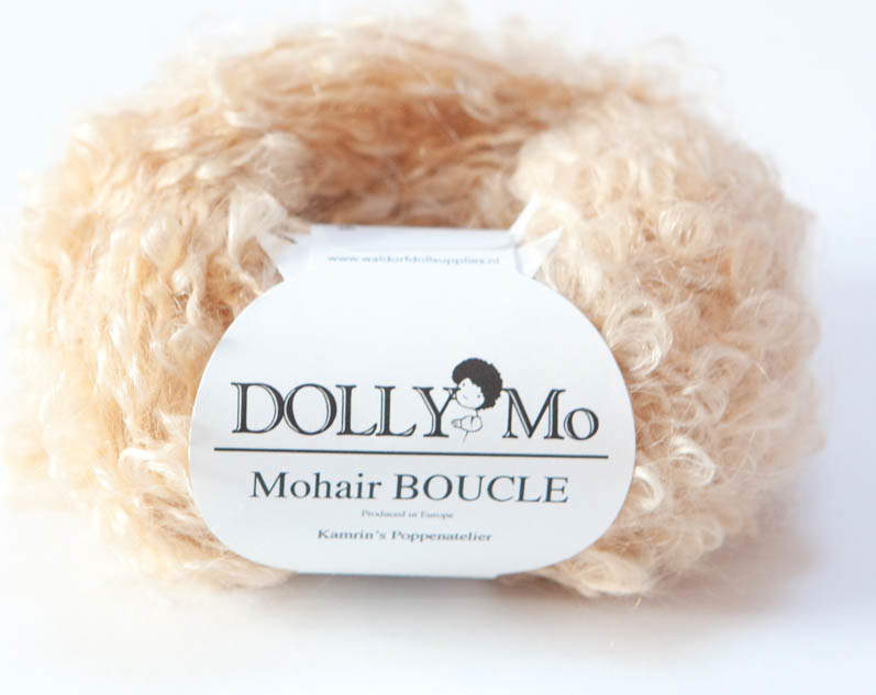 "DollyMo Mohair Bouclé ""Natural blonde"" nr. 7000"