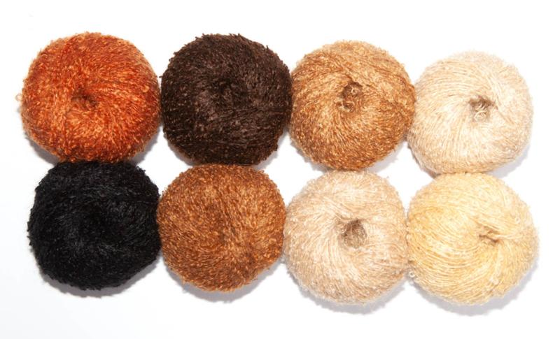 Mix pack Mini mohair bouclé in 8 kleuren van 50 grams bolletjes