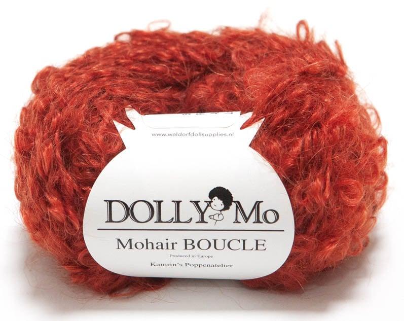 DollyMo Mohair Bouclé Rich Red Auburn nr. 7012 Neu!