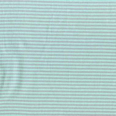 Katoen Jersey Gestreept mint/licht grijs
