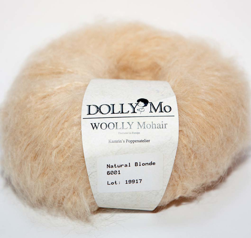 "DollyMo ""WOOLLY Mohair"" 6001  Natural Blonde"