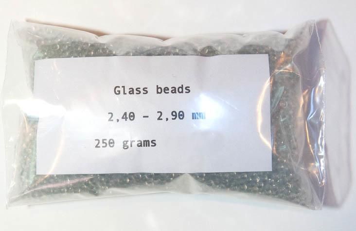 Glasparels medium fijn 2,40 - 2,90 mm Nieuw!