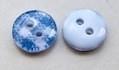 Gingham Knoop Ruit Blauw 9 mm