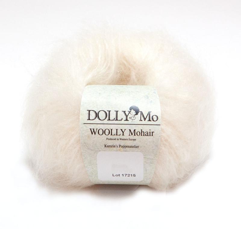 """DollyMo """"Woolly"""" Mohair  6011 Snow White  Nieuw!"""