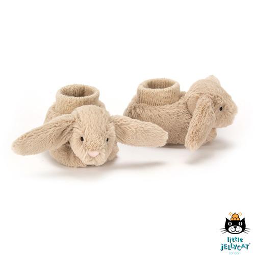 Bashful Beige Bunny Booties
