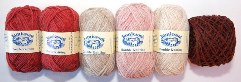"""Jamieson's DK Yarn for Knitted Doll """"Chrystal"""" by Mary Jane's Tearoom"""