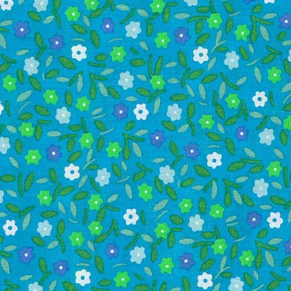 Coton endue Peace and Love bleu