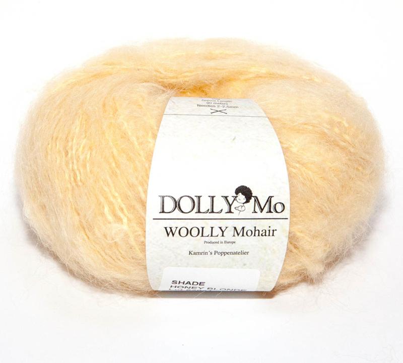 "DollyMo ""Woolly""  Mohair 6000 Honey Blonde"